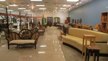 Image of Portland Habitat ReStore shop with couch and other furniture