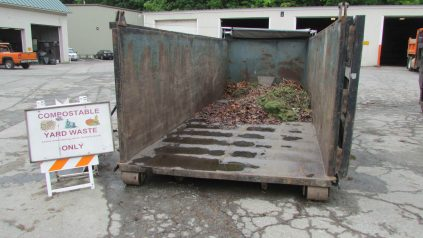 Image of dumpster for leaf and yard waste