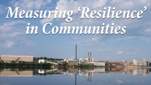 Measuring 'resilience' in communities