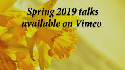 Spring 2019 talks on Vimeo