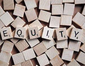 Equity in scrabble letters
