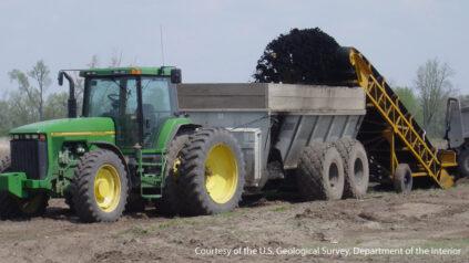 Applying biosolids to farm fields