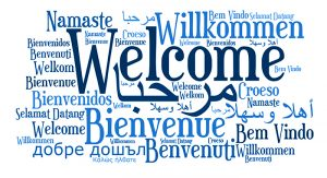 Welcome Word Cloud in multiple languages