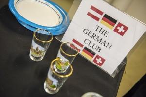 German Club sign at holiday fundraiser