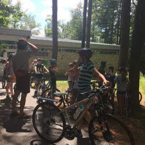 MSTI participants learning about bike safety