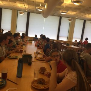 MSTI participants having lunch at the dining hall