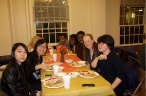 Multicultural Thanksgiving dinner