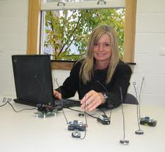 Woman working with Geosensor networks