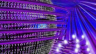 Photo of Binary code graphic