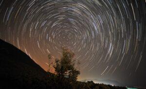 night sky spiral