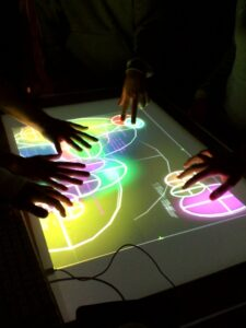 Multiuser touch interface built by the ASAP lab