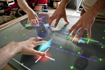 Multi-touch table built at ASAP