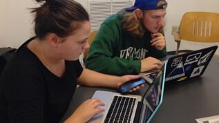 New Media students at Digital Humanities Week, 2013