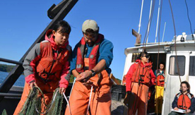 Marine Sciences exchange students