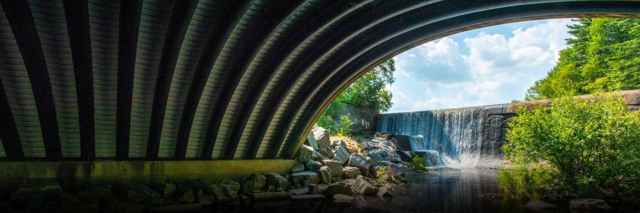 Composite bridge in Belfast, Maine