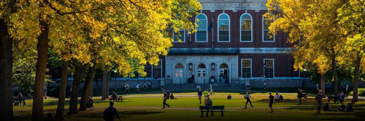Fogler Library in fall