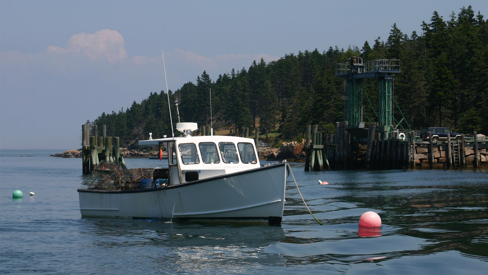 A lobster boat in the Gulf of Maine