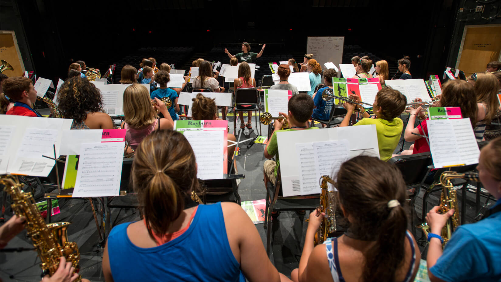 Camper practice at UMaine's Maine Summer Youth Music Program