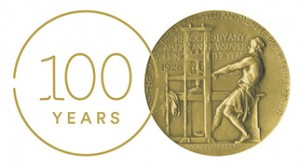 Centennial Mark withPulitzer Prize Medal