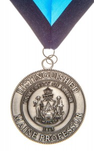 Distinguished Maine Professor Award medal