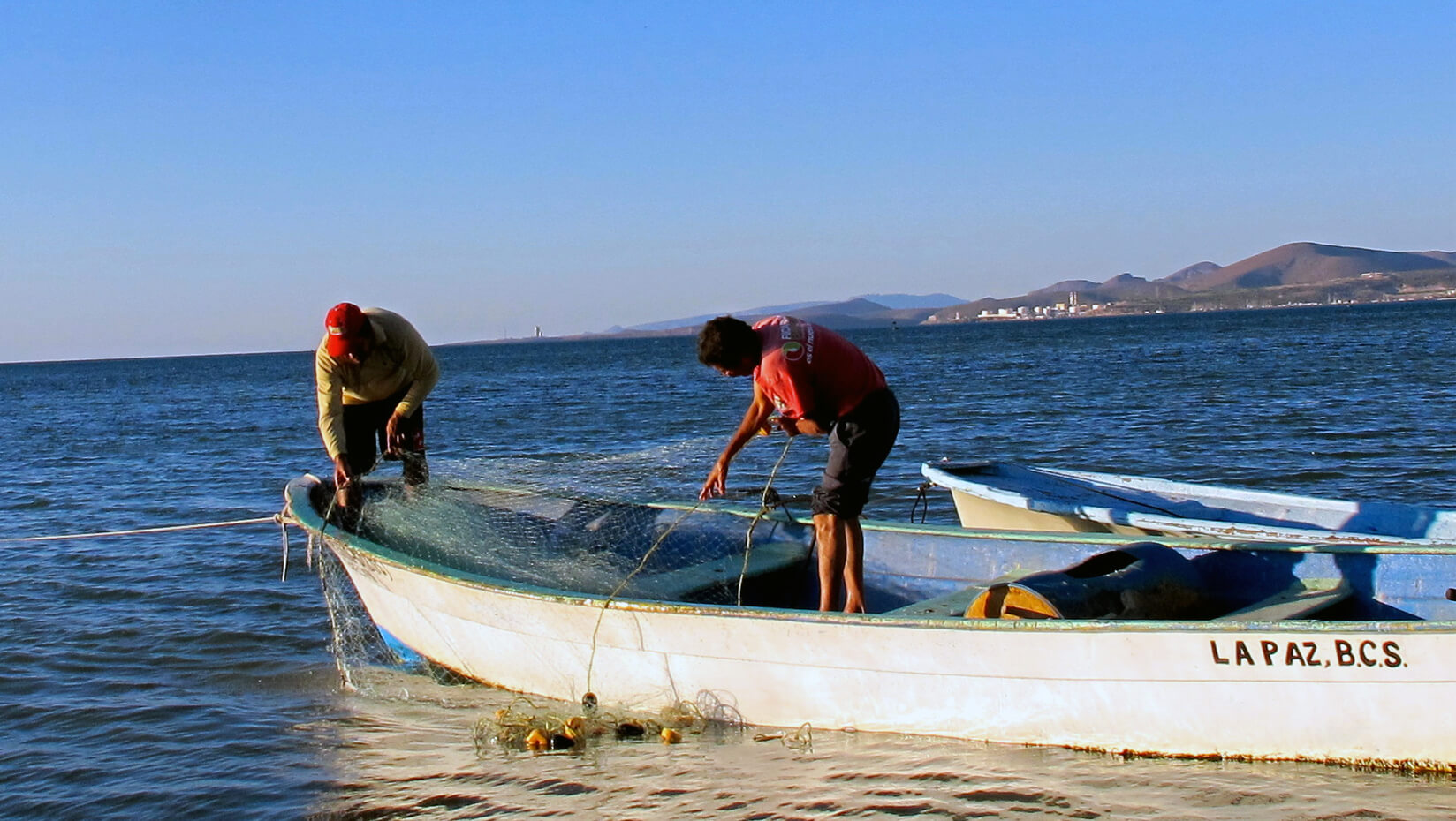 Fishermen in La Paz, Mexico