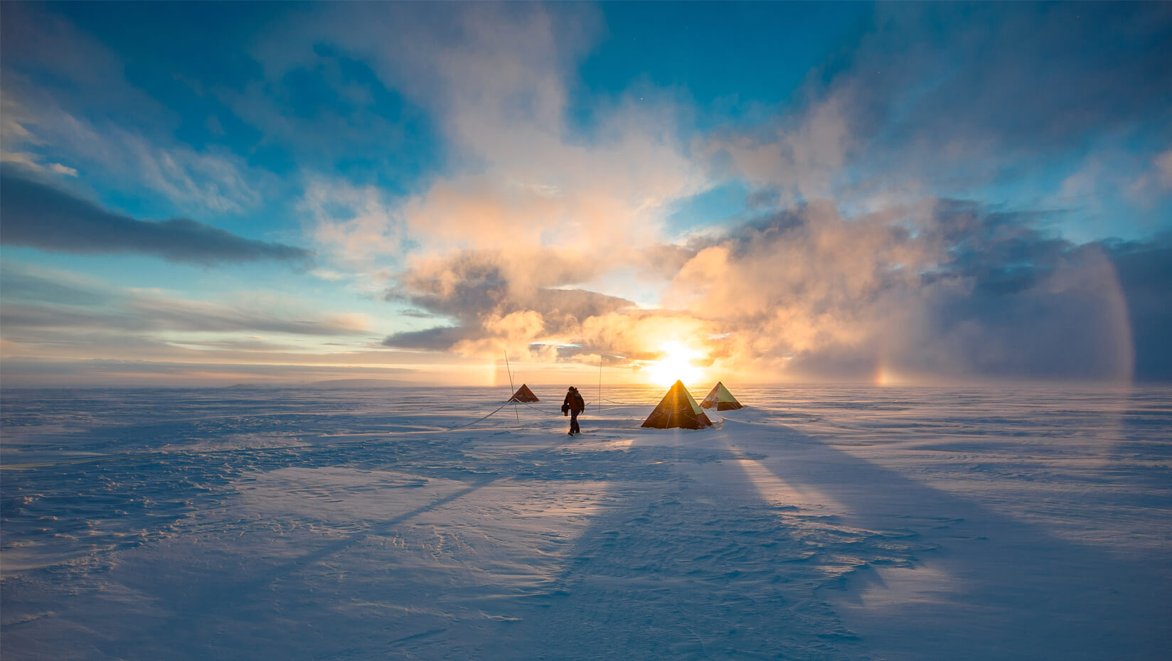 Tents on snow