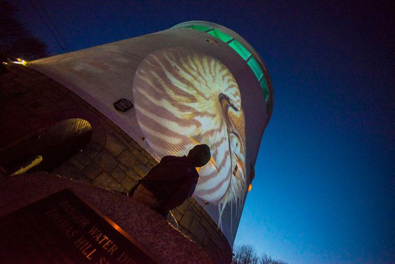 Bangor Standpipe art installation