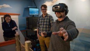 Virtual reality exhibit