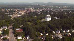 Aerial view of Bangor, Maine