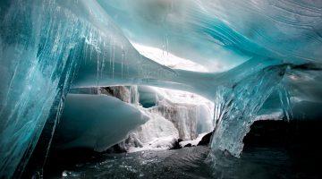 Ice cave in Peru