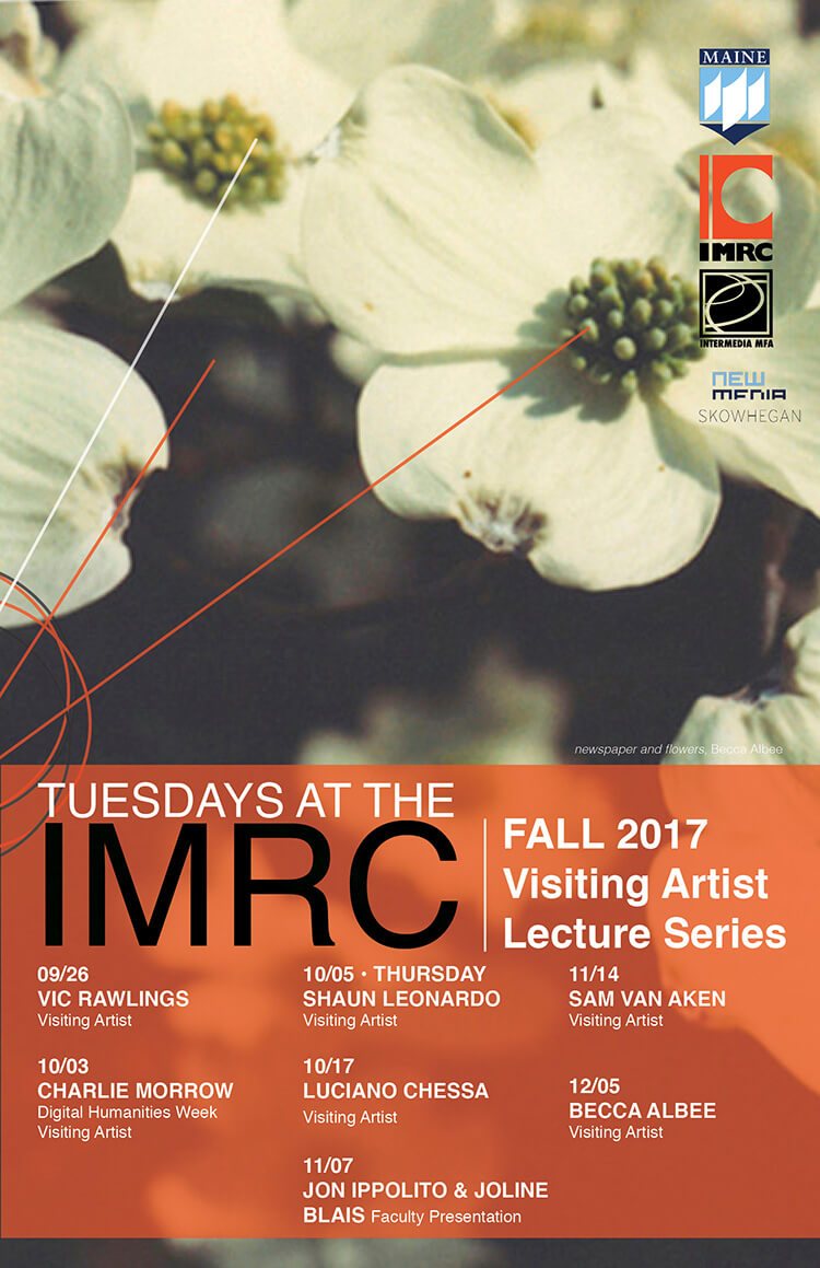 Tuesdays at IMRC fall 2017 poster