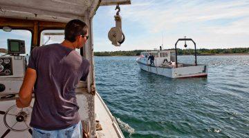 Fishermen in Eastport, Maine