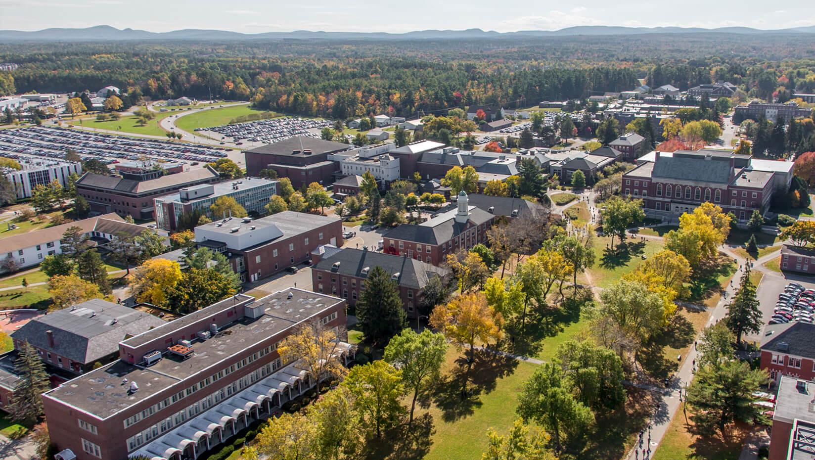 Aerial photo of UMaine campus