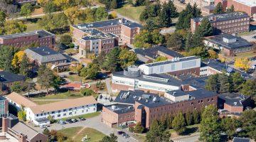 Aerial of UMaine engineering buildings