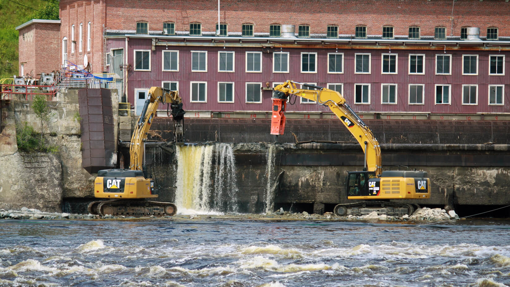 Dam removal in Veazie, Maine