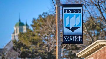 Flag on UMaine's campus