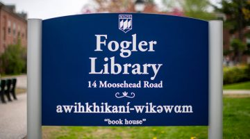 Fogler Library sign