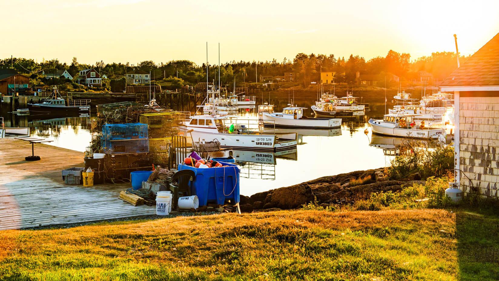 Fishing boats on the Maine coast