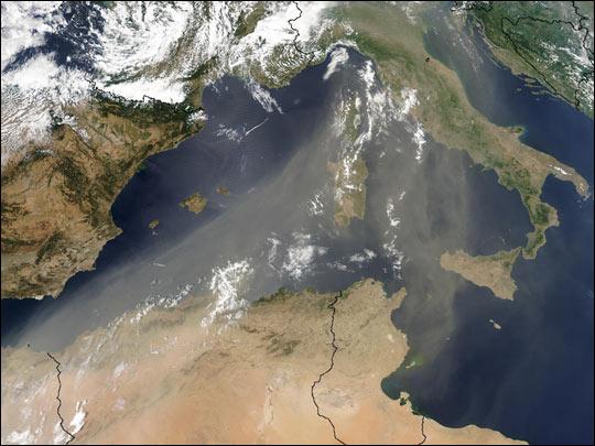 Aerial image of the Mediterranean Sea