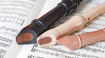 Recorders and sheet music