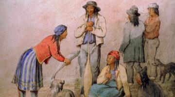 Wabanaki women painting