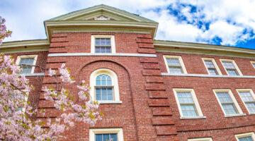 Campus building in spring