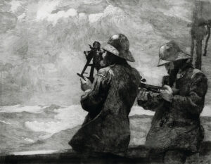 Etching of firefighters