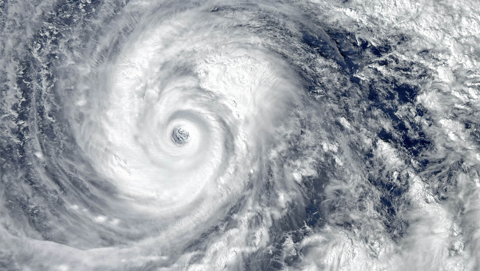 The eye of a hurricane as seen from space