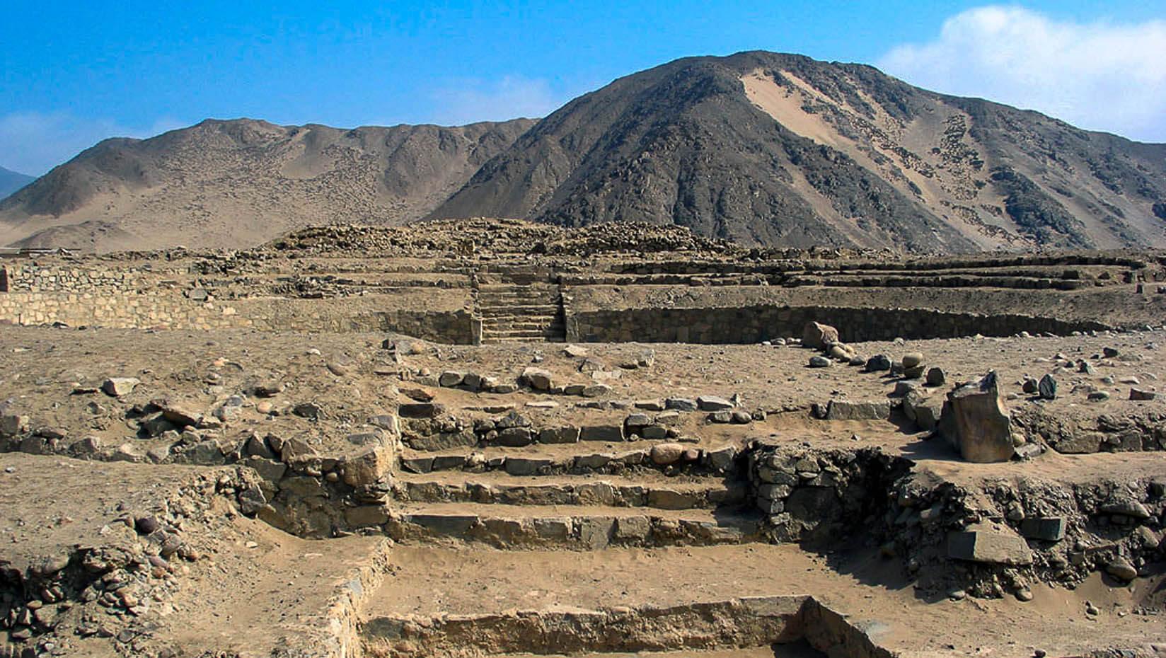 Temple ruins in Peru