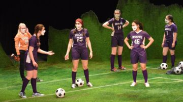 Actors in soccer uniforms