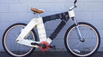 Bicycle with 3D-printed frame created by UMaine students.