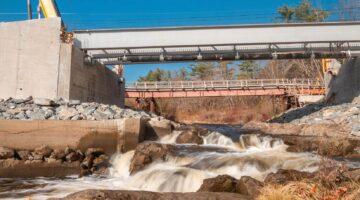 Grist Mill bridge in Hampden, Maine