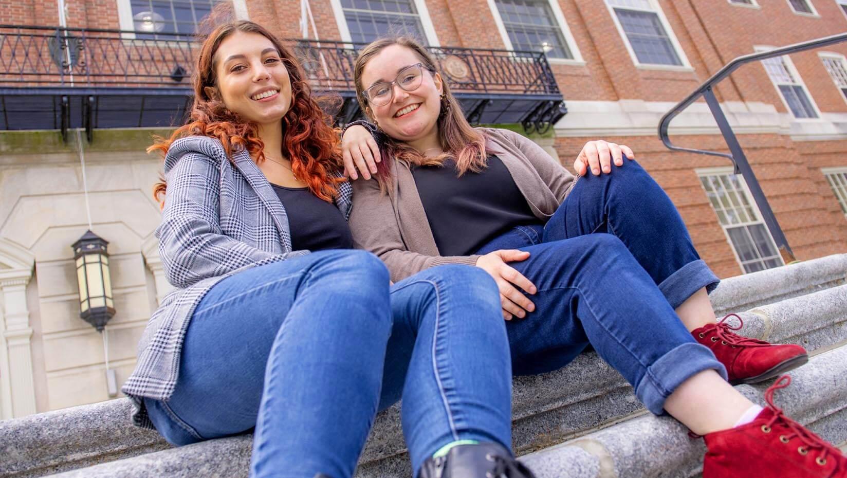 Rachel Breault and Caitlin Galvin