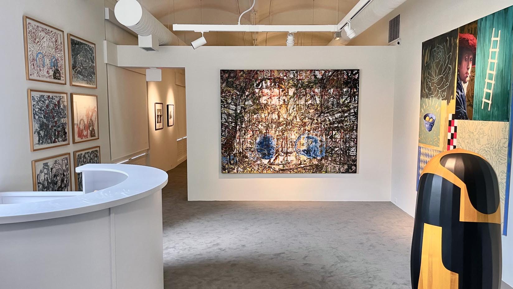 A gallery in the Zillman Art Museum